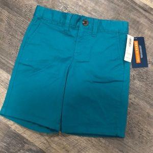 BNWT old navy boys teal chino shorts 4T